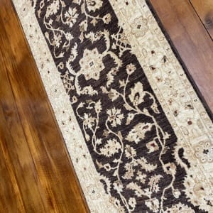 Rug# 11259, Afghan Turkaman weave 19th c Ziegler design, hsw, vegetable dyes, size 249x75 cm RRP $1900, Special $750 (2)