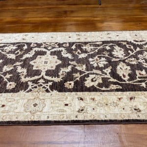 Rug# 11259, Afghan Turkaman weave 19th c Ziegler design, hsw, vegetable dyes, size 249x75 cm RRP $1900, Special $750 (3)