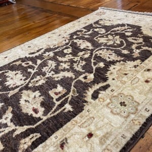 Rug# 11259, Afghan Turkaman weave 19th c Ziegler design, hsw, vegetable dyes, size 249x75 cm RRP $1900, Special $750 (4)