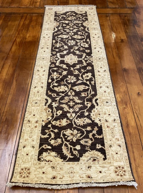 Rug# 11259, Afghan Turkaman weave 19th c Ziegler design, hsw, vegetable dyes, size 249x75 cm RRP $1900, Special $750