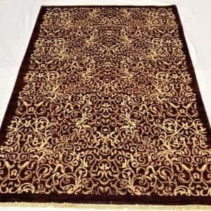 Rug# 13825, Afghan Turkaman weave Eslimi scrolls, handspun wool, size 209x141 cm, RRP $2400, Special price $720 (2)