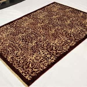Rug# 13825, Afghan Turkaman weave Eslimi scrolls, handspun wool, size 209x141 cm, RRP $2400, Special price $720 (3)