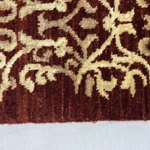 Rug# 13825, Afghan Turkaman weave Eslimi scrolls, handspun wool, size 209x141 cm, RRP $2400, Special price $720 (6)