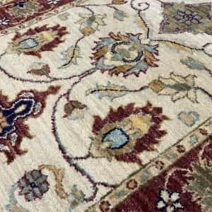 Rug# 14117, Afghan Turkaman weave 19th c Tabriz design, hand spun wool vegetable dyes, size 303x80 cm RRP $1800, Special $750 (4)
