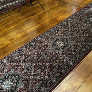 Rug# 14185, Superfine Amritsar, NZ wool pile, Tabriz dsn, 14x14 quality, India, size 306x76 cm RP $2500, Special $1000 (2)