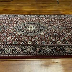 Rug# 14185, Superfine Amritsar, NZ wool pile, Tabriz dsn, 14x14 quality, India, size 306x76 cm RP $2500, Special $1000 (3)