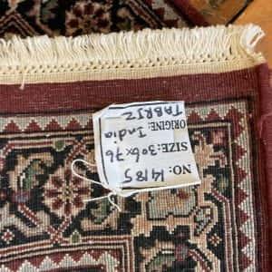 Rug# 14185, Superfine Amritsar, NZ wool pile, Tabriz dsn, 14x14 quality, India, size 306x76 cm RP $2500, Special $1000 (5)