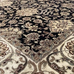Rug# 16386, Superfine Jaipur, 19th c Tabriz dsn, Nz wool pile, very durable, India, size 270x185 cm, RRP $4500, on special $1750 (3)