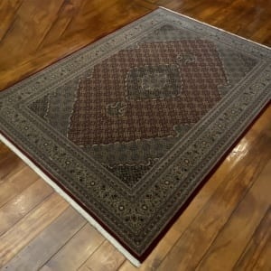 Rug# 16598, custom made Tabriz design Amritsar, total 4,700,000 knots, immaculate, India, size 277x183cm, RRP $9800, on special $4400 (2)