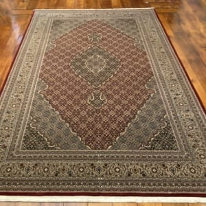 Rug# 16598, custom made Tabriz design Amritsar, total 4,700,000 knots, immaculate, India, size 277x183cm, RRP $9800, on special $4400 (3)