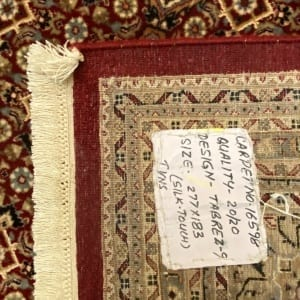Rug# 16598, custom made Tabriz design Amritsar, total 4,700,000 knots, immaculate, India, size 277x183cm, RRP $9800, on special $4400