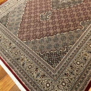 Rug# 16598, custom made Tabriz design Amritsar, total 4,700,000 knots, immaculate, India, size 277x183cm, RRP $9800, on special $4400 (4)