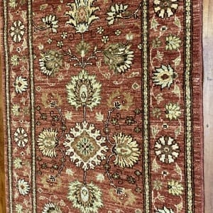 Rug# 22152, Afghan Turkaman weave 18th c Mogul design, hsw, vegetable dyes, size 235x84 cm RRP $1800, Special $750 (3)