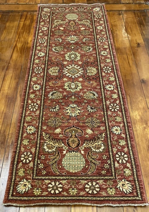 Rug# 22152, Afghan Turkaman weave 18th c Mogul design, hsw, vegetable dyes, size 235x84 cm RRP $1800, Special $750
