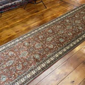 Rug# 23110, Srinagar silk, tree of life design, pure silk pile, 18x18 quality, Kashmir, size 307x80 cm RRP $4500, Special $1800 (2)