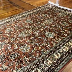 Rug# 23110, Srinagar silk, tree of life design, pure silk pile, 18x18 quality, Kashmir, size 307x80 cm RRP $4500, Special $1800 (4)