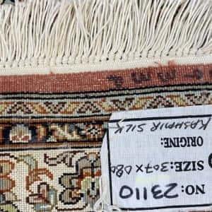 Rug# 23110, Srinagar silk, tree of life design, pure silk pile, 18x18 quality, Kashmir, size 307x80 cm RRP $4500, Special $1800 (5)