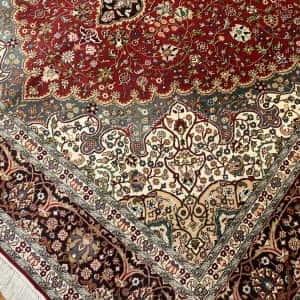 Rug# 23182, superfine Kashmir silk on silk, total 3,326,000 knots, India, size 216x154 cm (3)