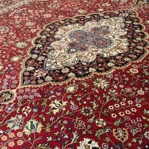 Rug# 23182, superfine Kashmir silk on silk, total 3,326,000 knots, India, size 216x154 cm (4)