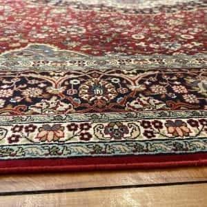 Rug# 23182, superfine Kashmir silk on silk, total 3,326,000 knots, India, size 216x154 cm (5)