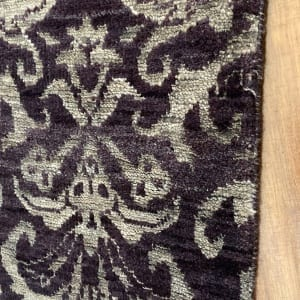 Rug# 23324, Fine Agra design, Tibetan wool pile, 18th c Damask dsn, 8x8 quality, India, size 237x73 cm RRP $1800, Special $750 (4)