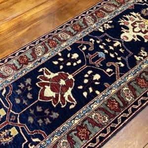 Rug# 23712, Afghan Turkaman weave Heriz design, HSW, V.D, size 280x78 cm RRP $2300, Special $900 (2)