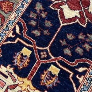 Rug# 23712, Afghan Turkaman weave Heriz design, HSW, V.D, size 280x78 cm RRP $2300, Special $900 (3)