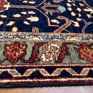 Rug# 23712, Afghan Turkaman weave Heriz design, HSW, V.D, size 280x78 cm RRP $2300, Special $900 (4)