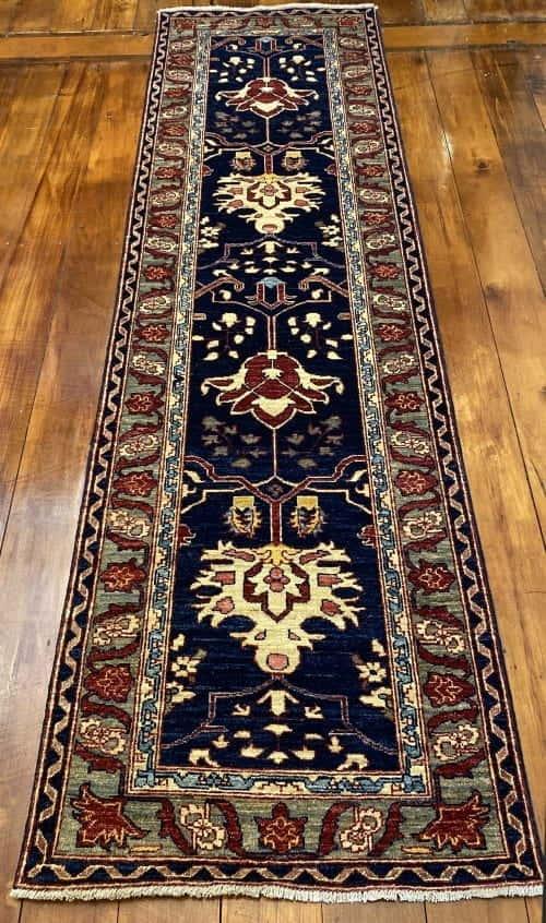 Rug# 23712, Afghan Turkaman weave Heriz design, HSW, V.D, size 280x78 cm RRP $2300, Special $900