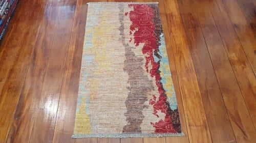 Rug# 24020, Afghan Turkaman weave Varegeh or sample carpet, rare, size 134x73 cm, RRP$900, on special $300 (2)