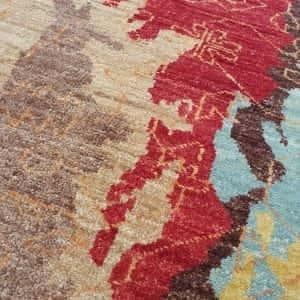 Rug# 24020, Afghan Turkaman weave Varegeh or sample carpet, rare, size 134x73 cm, RRP$900, on special $300 (4)