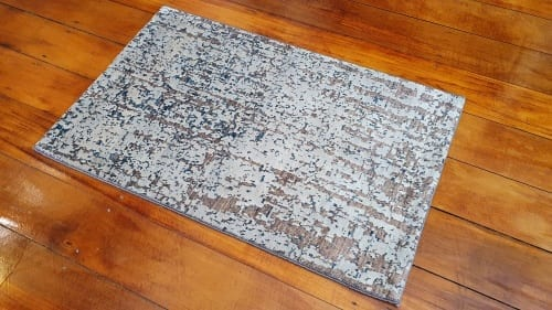 Rug# 25787, Afghan Turkaman weave Varegeh or sample carpet, wool and silk, size 90x60 cm, RRP$600, on special $200 (3)