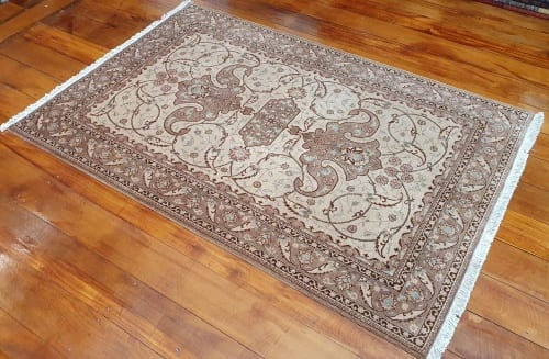 Rug# 4641, Certified Miri-Creation Tabriz, c. 2000, collectable, Persia, size 184x123 cm, RRP$7500, on special $3300 (2)