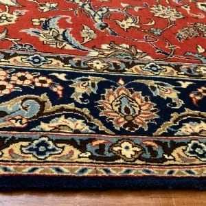 Rug# 5852, vintage Qum wool pile, circa 1945, silk inlay, immaculate, Persia, size 210x140 cm, RRP $8000 , on special $3000 (6)