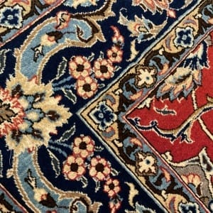 Rug# 5852, vintage Qum wool pile, circa 1945, silk inlay, immaculate, Persia, size 210x140 cm, RRP $8000 , on special $3000 (7)