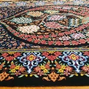 Rug# 6422, Superfine Caspian silk Qum, pictorial, total 600,000 knots, Persia, rare, size 90x62 cm, RRP$5000, on special $1900 (4)