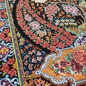 Rug# 6422, Superfine Caspian silk Qum, pictorial, total 600,000 knots, Persia, rare, size 90x62 cm, RRP$5000, on special $1900 (5)
