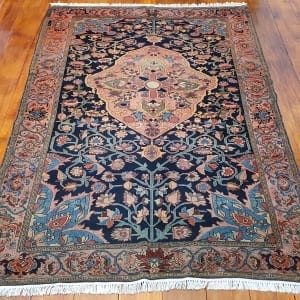 Rug# 97, Antique Mishen Malayer, c.1880, superfine, restored, , collectable, Persia, size 194x130 cm, RRP16000, on special $6500 (2)