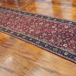Rug# 23234, superfine Agra, fine NZ wool pile, Mashad design, India, size 496x103 cm, RRP $5500, on special $1990 (3)