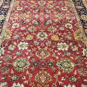 Rug# 23234, superfine Agra, fine NZ wool pile, Mashad design, India, size 496x103 cm, RRP $5500, on special $1990 (5)
