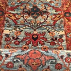Rug #25970, Afghan Turkaman weave, Antique Garous-Bijar design, Hand spun wool pile with natural vegetable dyes, Mazar-Shar, 598x82 cm, $5500, on special $2450 (2)
