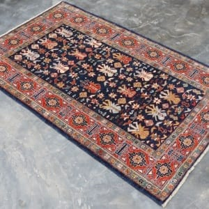 Rug #25979, Afghan Turkaman, 19thc Shirvan design inspired, Hand spun wool pile with natural vegetable dyes, Mazar-Sharf, 153x96 cm, $2300, on special $850 (2)
