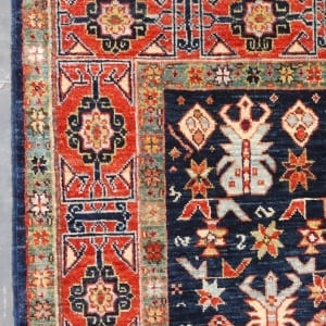 Rug #25979, Afghan Turkaman, 19thc Shirvan design inspired, Hand spun wool pile with natural vegetable dyes, Mazar-Sharf, 153x96 cm, $2300, on special $850 (3)