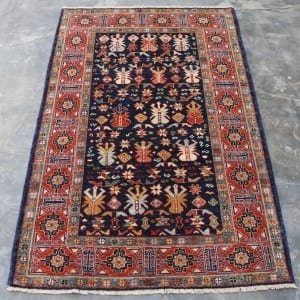 Rug #25979, Afghan Turkaman, 19thc Shirvan design inspired, Hand spun wool pile with natural vegetable dyes, Mazar-Sharf, 153x96 cm, $2300, on special $850