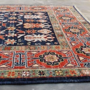Rug #25979, Afghan Turkaman, 19thc Shirvan design inspired, Hand spun wool pile with natural vegetable dyes, Mazar-Sharf, 153x96 cm, $2300, on special $850 (4)