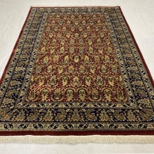 Rug# 30535,Superfine Jaipur rug, 18th.c Mogul Paseley design , very durable, India, size 248x154 cm, RRP $4400, Special price $1540 (2)
