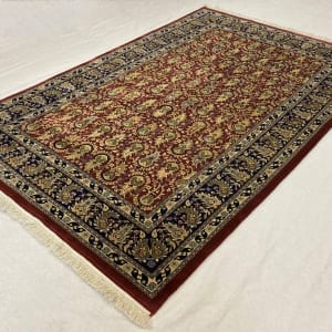 Rug# 30535,Superfine Jaipur rug, 18th.c Mogul Paseley design , very durable, India, size 248x154 cm, RRP $4400, Special price $1540 (3)