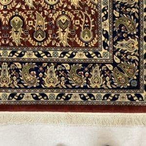 Rug# 30535,Superfine Jaipur rug, 18th.c Mogul Paseley design , very durable, India, size 248x154 cm, RRP $4400, Special price $1540 (4)