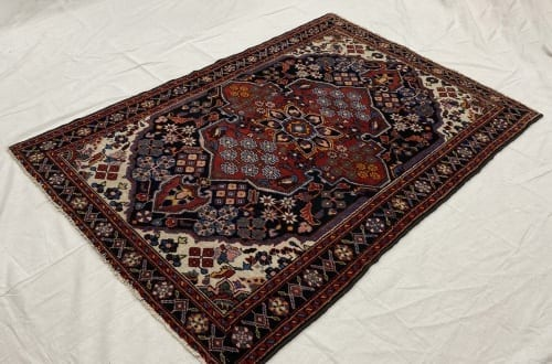 Rug# 7238A, vintage Shahsavan , circa 1950, rare, near Malayer, Persia, size 198x134 cm (3)