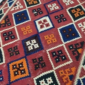 Rug# 11231, old Qashqai Kilim, mid 20th c, Persia, size 290x138 cm, RRp $1500, on special $550 (2)